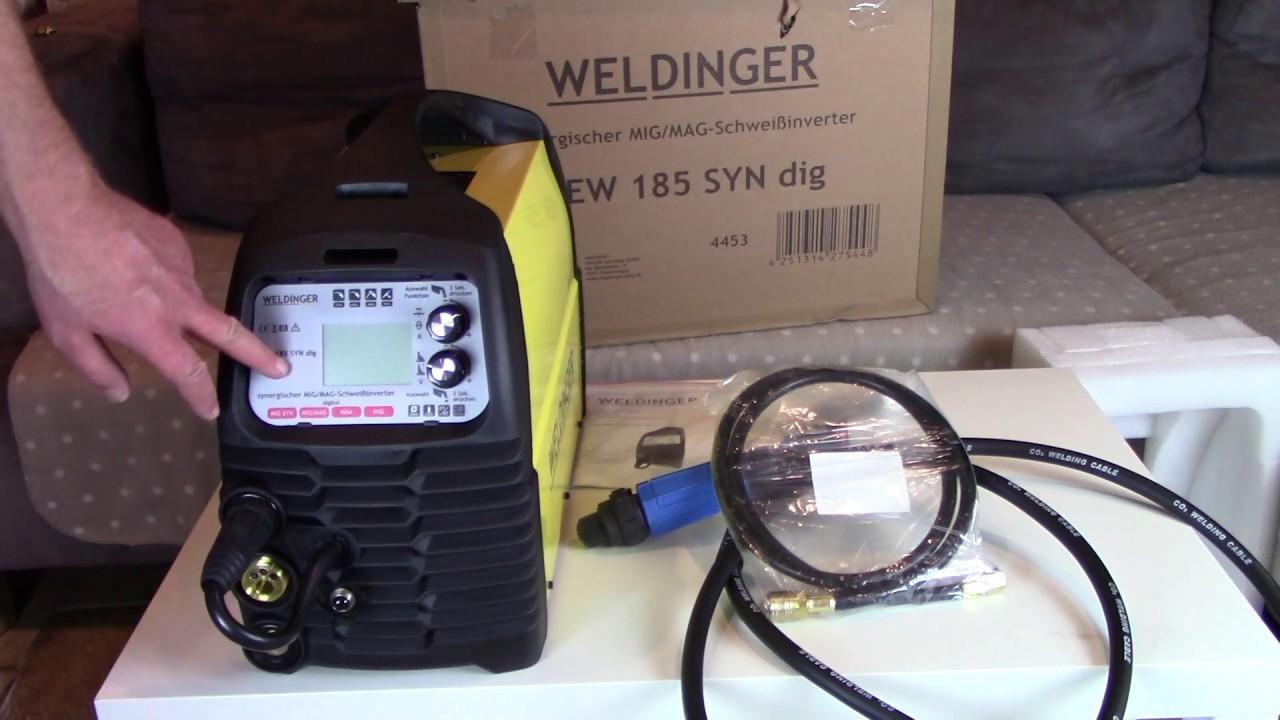 WELDINGER MIG-MAG-Schweißinverter MEW 185 SYN dig pro Schweißgerät WIG Inverter