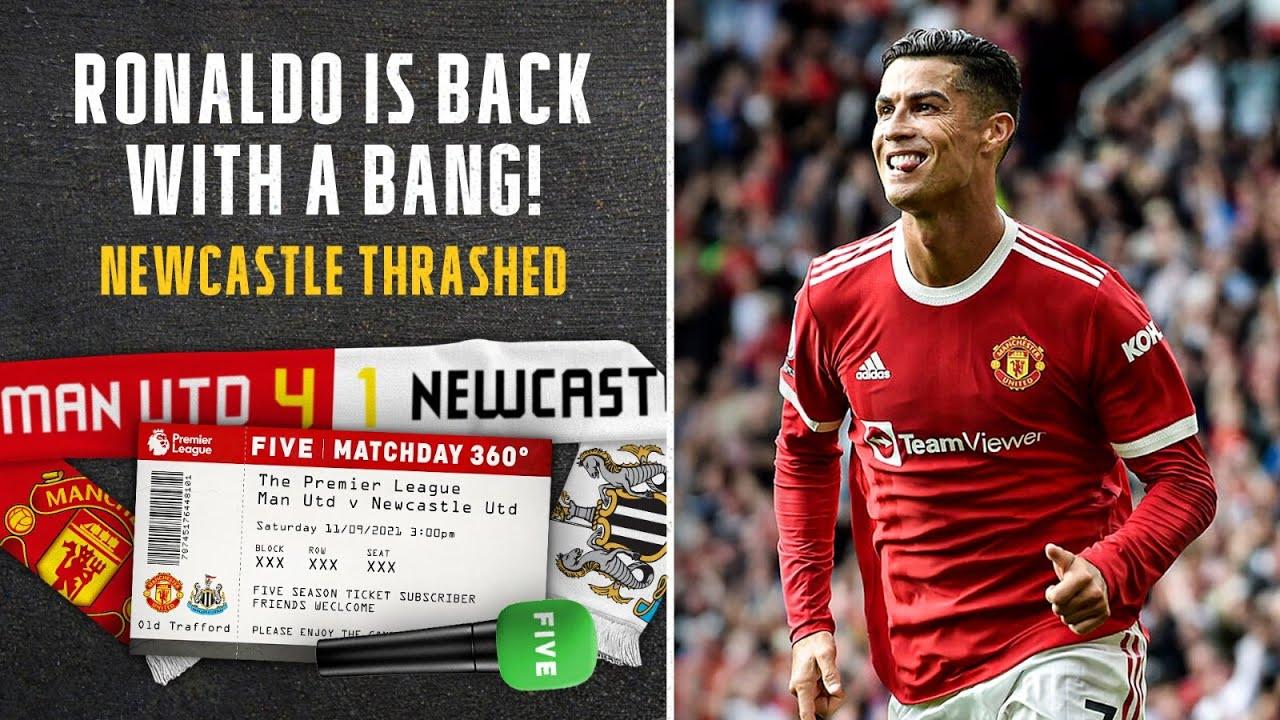 Download Cristiano Ronaldo Scores Two On Epic Manchester United Return.