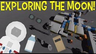 Unturned MOON Survival: Food, Water, & EXPLORATION!  EP2