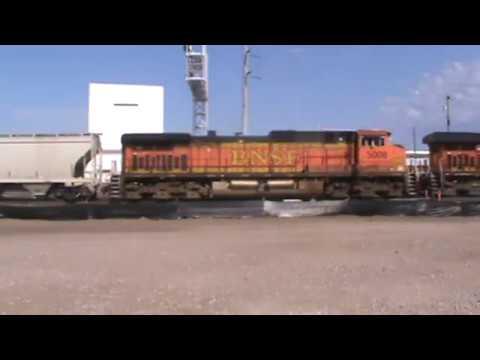 BNSF General Freight backing into Cherokee Yard Tulsa, OK 6/25/17 vid 1 of 6