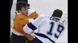 Miked UP! Mic'd Zac Rinaldo BJ Crombeen fight Philadelphia Flyers Tampa Bay Lightning 2/5/13‏ TKO