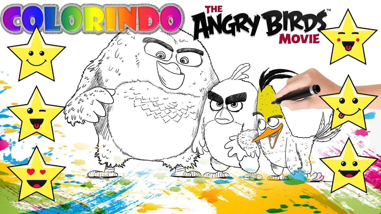 Colorindo Angry Birds O Filme Desenho Educativo Brincar E