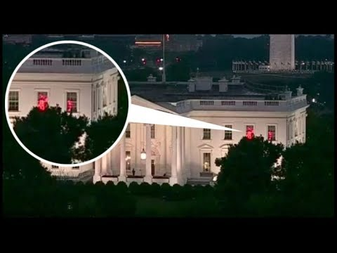 mysterious red lights in the white house, what is it all about