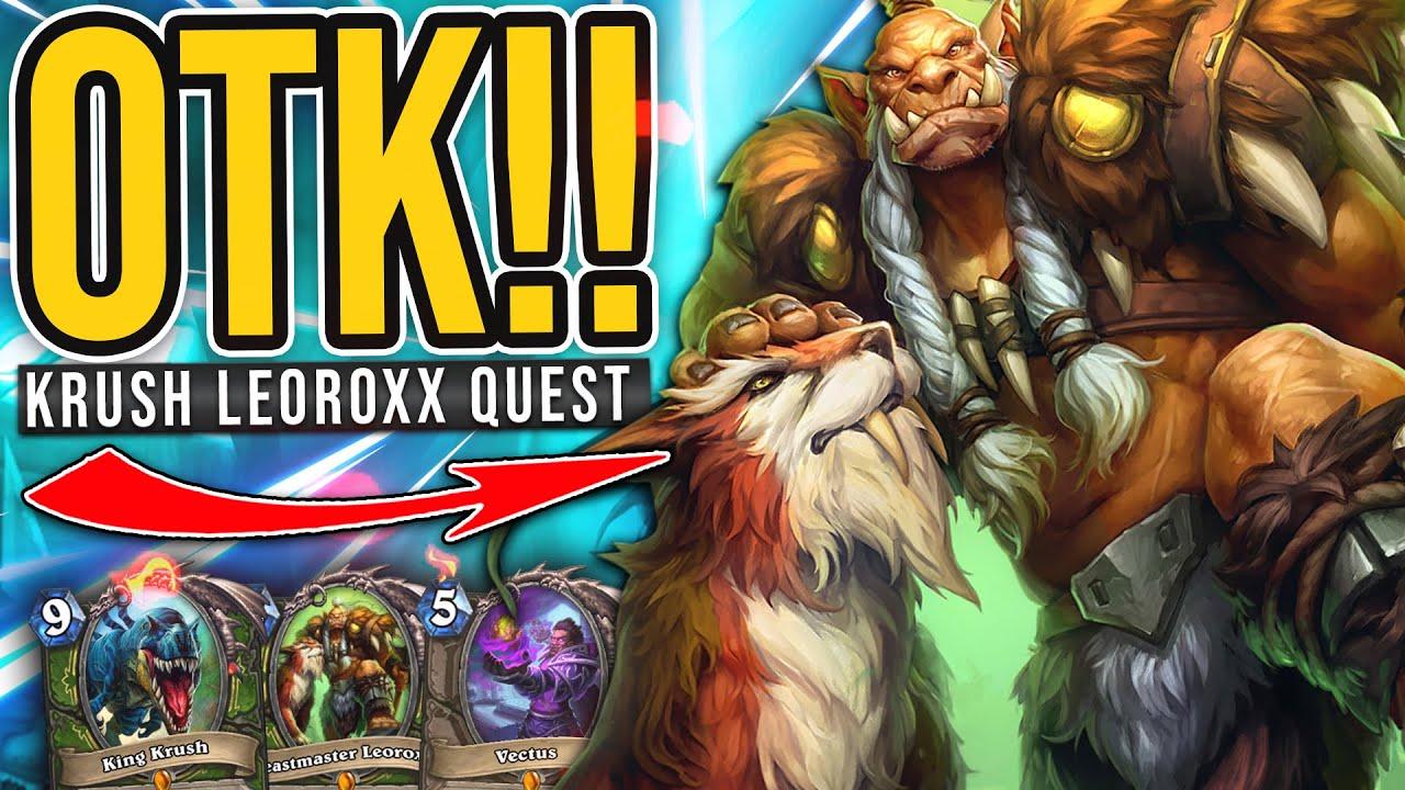 BEST COMBO! KRUSH LEOROXX OTK Hunter is BACK! - Hearthstone
