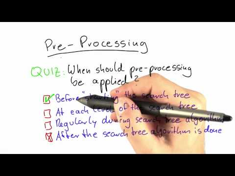 When To Apply Preprocessing Solution - Intro to Theoretical Computer Science