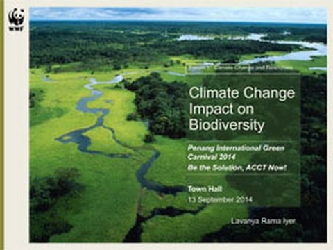 Impacts of climate change on biodiversity and ecosystem services