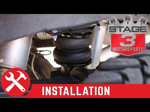 F250 & F350 4WD Air Lift LoadLifter 5000 Ultimate Rear Air Spring Kit Install