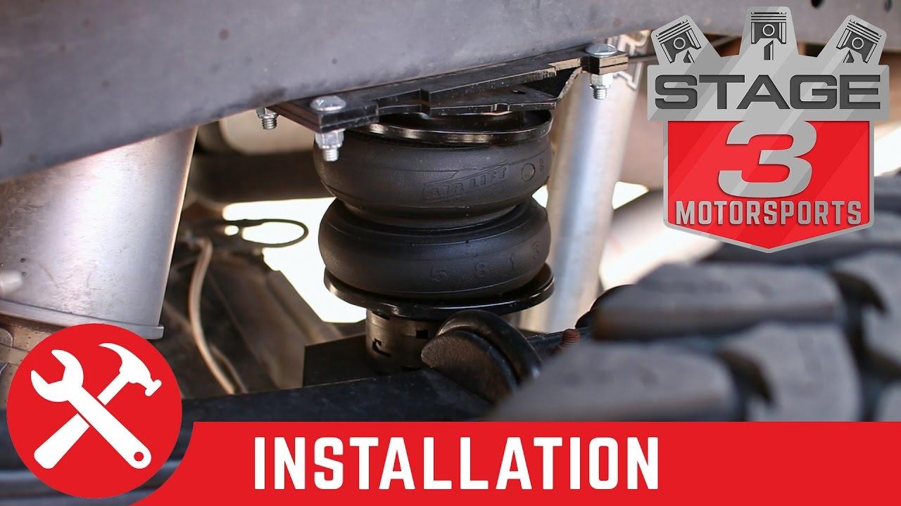 f250 f350 4wd air lift loadlifter 5000 ultimate rear air spring kit install [ 1280 x 720 Pixel ]