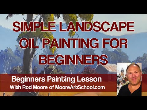 Simple Landscape Oil Painting For Beginners