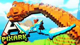 TAMING Flying Creatures and Flying High! - PixArk Gameplay - Pixark Multiplayer