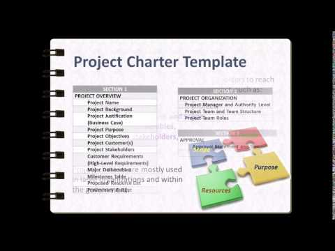 Project Charter Template Walkthrough V YouTube - Pmp project charter template