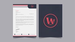 creating business letterhead and cover in illustrator Mp3