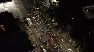 George Floyd protesters march after curfew in California
