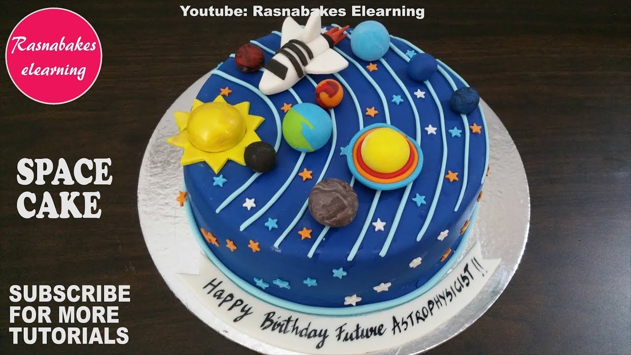 space galaxy planet birthday cake design ideas decorating tutorial classes  courses video