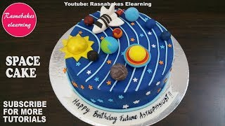 space galaxy planet birthday cake design ideas decorating tutorial ...
