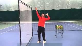 Уроки большого тенниса  Техника подачи