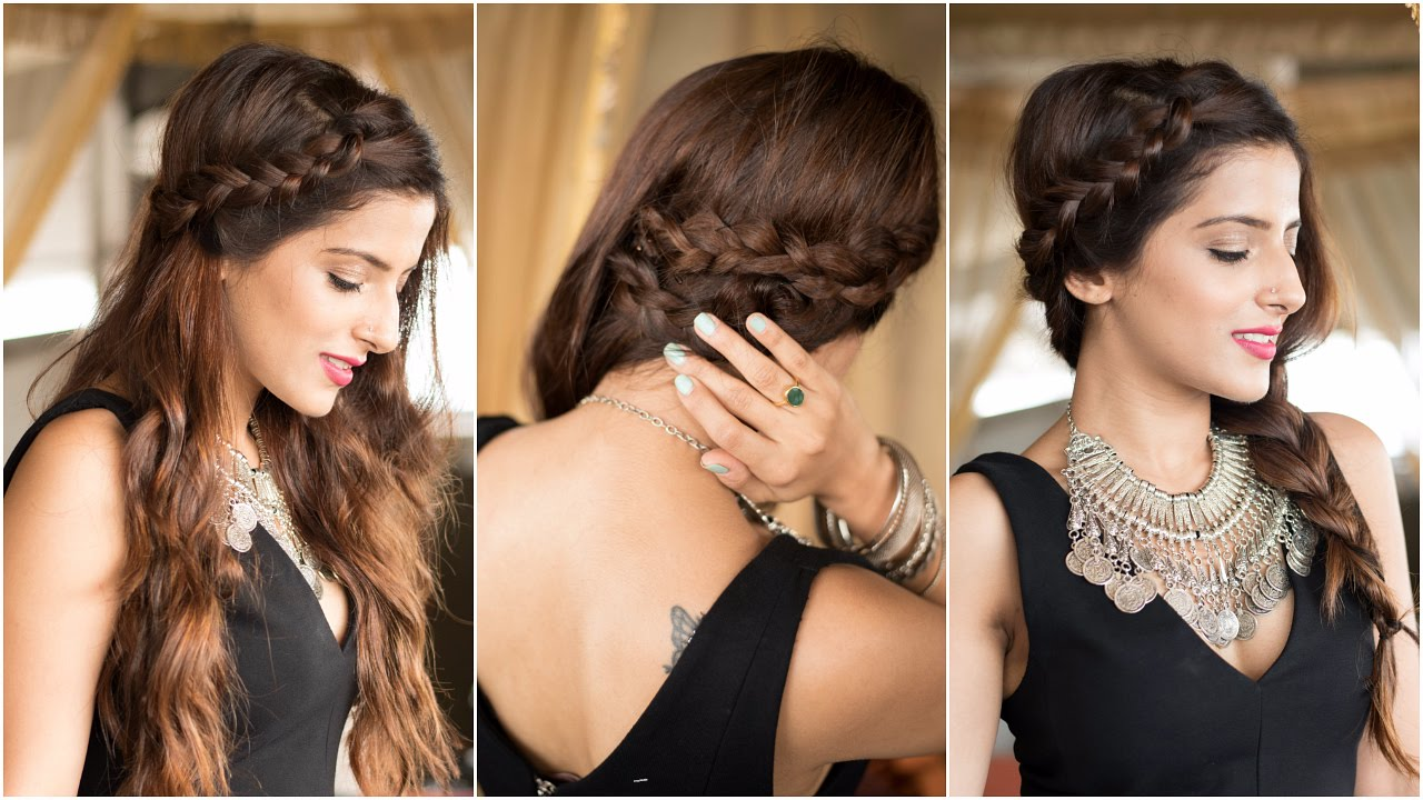 3 party hairstyles - how to : cute & easy braid hairstyles for medium to  long hair