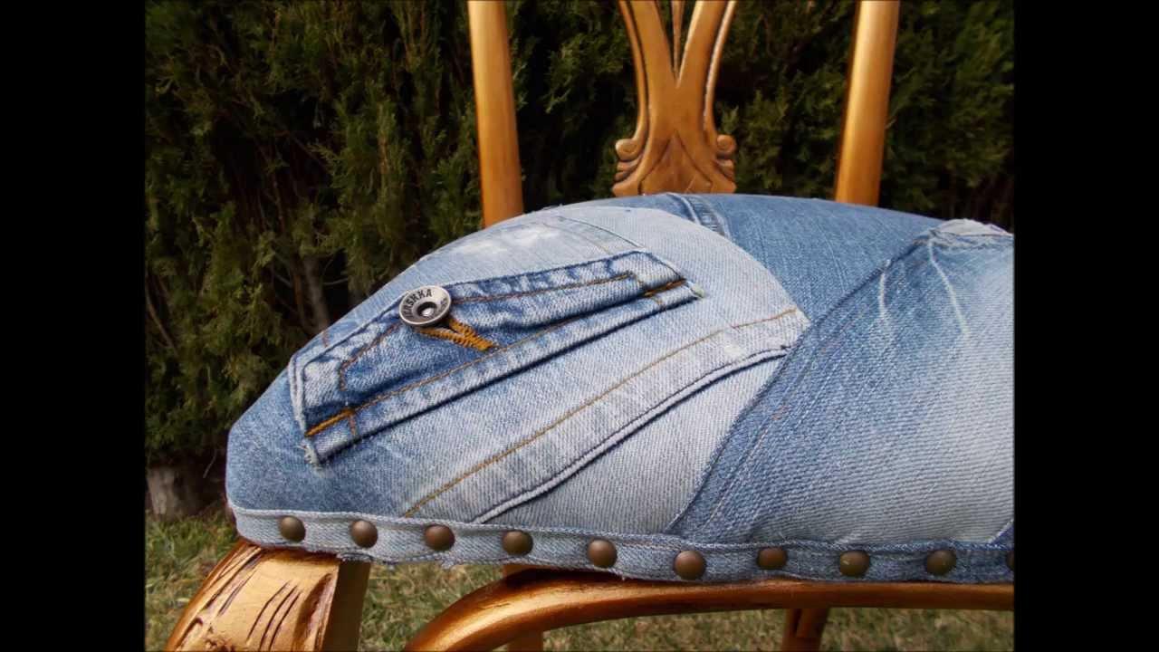 Tapizar silla con vaquero youtube - Telas para tapizar sofas ...