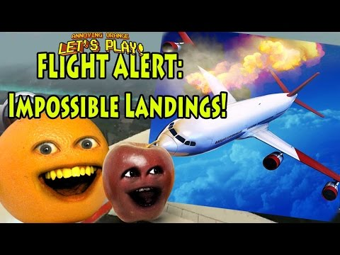 Annoying Orange & Midget Apple Play - Flight Alert Impossible Landings!