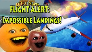 Annoying Orange & Midget Apple Play - Flight Alert Impossible Landings!