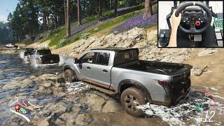 Nissan Titan Truck - Forza Horizon 4 Online | Logitech g29 gameplay