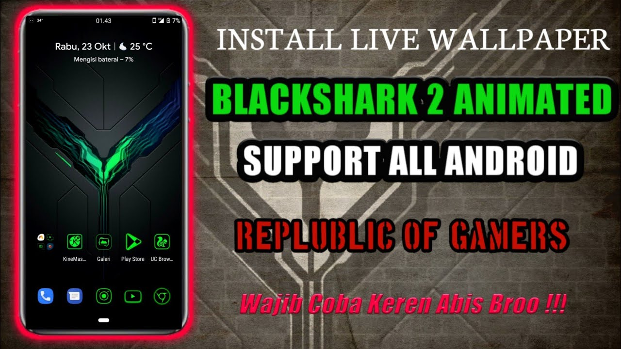 Install Live Wallpaper Black Shark 2 Animated Support All Android Youtube