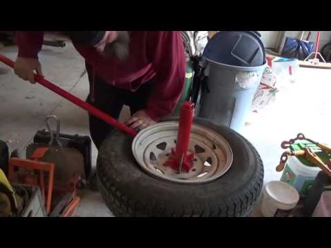 How (N0T) to use a Harbor Freight manual tire changer