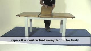 How To Open & Close An Extension Table
