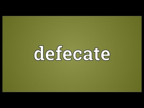 Defecate Meaning