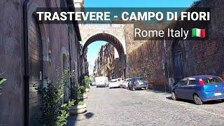 ROME ITALY - Trastevere and Campo di Fiori walking tour vlog screenshot 2
