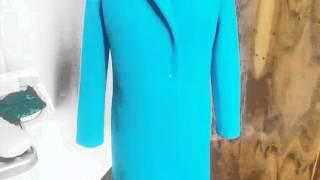 #256.Пальто сшито,демонстрация на манекене