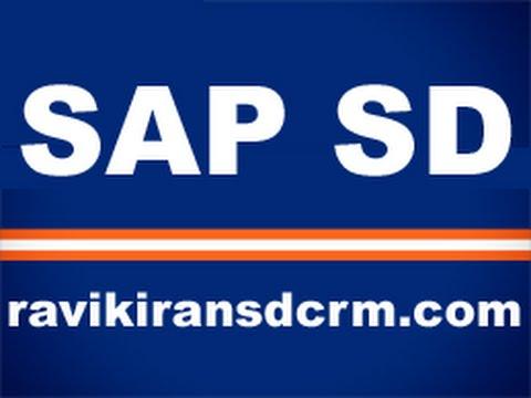 SAP SD Training - SD Master Data 1