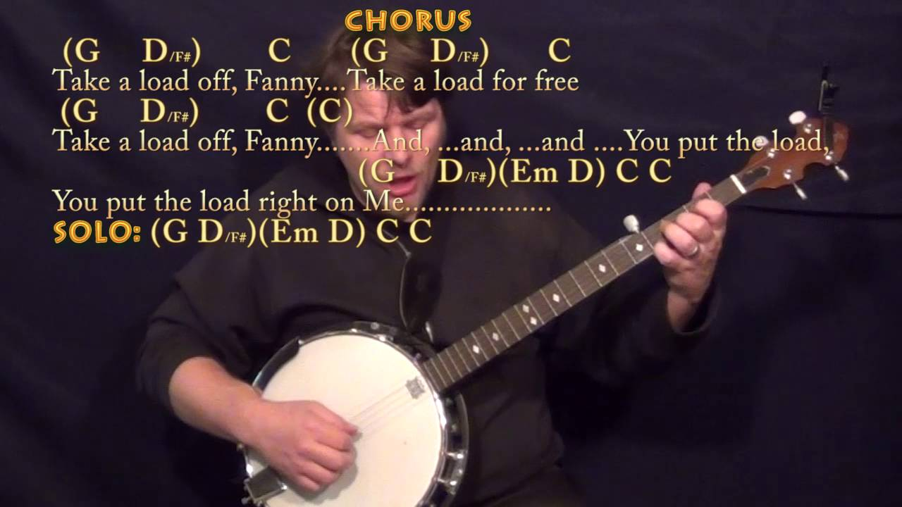 The weight the band banjo cover lesson in g with chordslyrics the weight the band banjo cover lesson in g with chordslyrics youtube hexwebz Images