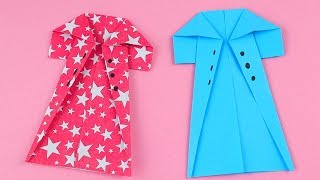 Origami Coat - How To Make Easy Paper Coat - Origami Tutorial Step By Step