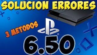 Solución a los ERRORES de 6.50 PS4