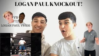 REACTING TO LOGAN PAUL KNOCKING OUT SPARRING PARTNER! (Logan Paul vs KSI)