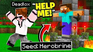 I Made Him Join HEROBRINE's Seed.. (Minecraft)
