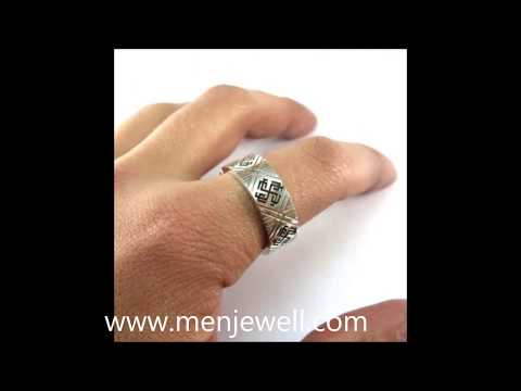 Lates  jewellery design mens Silver Wedding Ring for men by menjewell.com