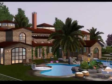 Sims 3 Downloads - 'modern celebrity mansion'