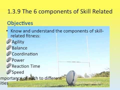 6 components of Skill related fitness - YouTube