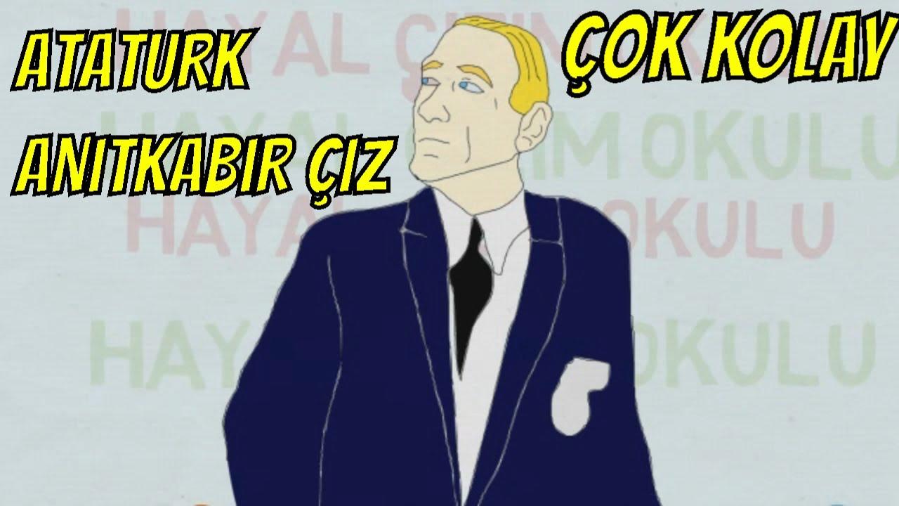 10 Kasim Resmi Nasil Cizilir Ataturk Anitkabir Cizimi Youtube