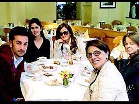 Katrina Kaif Meets Ranbir Kapoor Father and Sister - YouTube