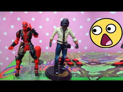 CONSIGA UM ACTION FIGURE DO BATTLEGROUNDS E DEADPOOL!!!