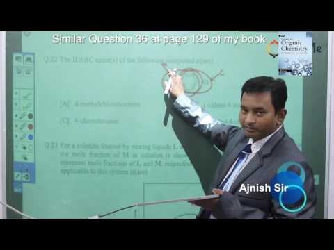 Controversial IUPAC Nomenclature Questions of IIT Advance 2017 with proof with Application of Chemis