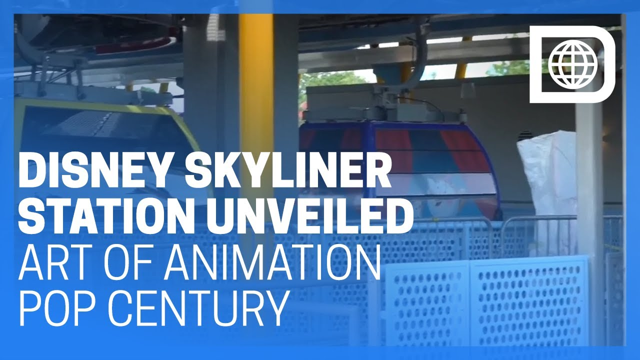 Disney Skyliner Station Unveiled at Art of Animation/Pop Century Resorts