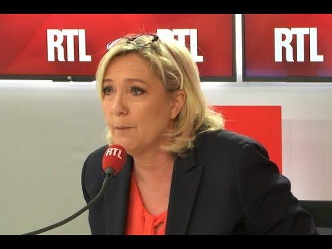 """""""Emmanuel Macron est le directeur de campagne d'En marche"""" estime Marine Le Pen sur RTL"""