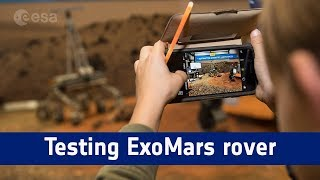 ExoMars rover self-driving software test