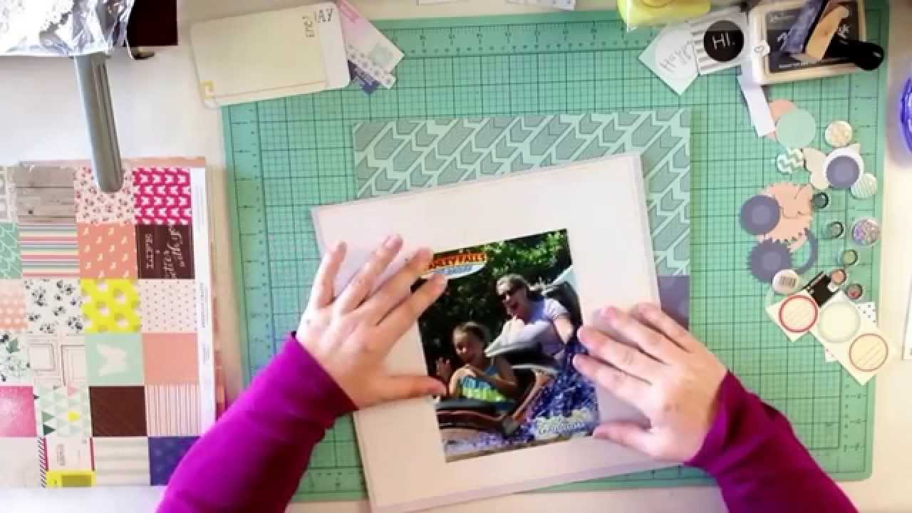 Create your own scrapbook - Busch Gardens Flume Layout 2 Create Your Own Scrapbook Kit 2