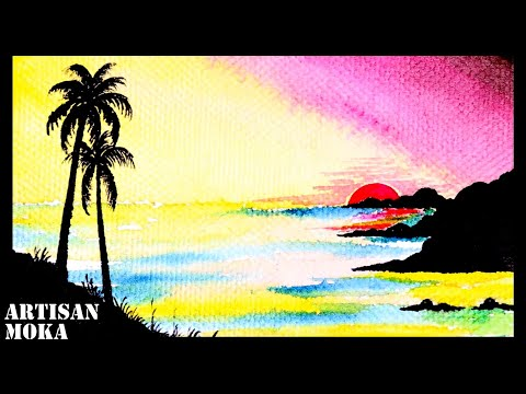 Landscape Drawing Easy | Painting Ideas | Easy Landscape Painting | Easy Paintings For Kids