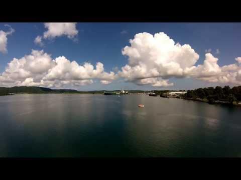 Gatun Lake Panama Canal - SunFarer cruise on Holland America Line ship ms Zuiderdam